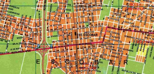 mapa de calle escobar